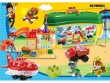 New children's puzzle piece toy dog transport aircraft block park