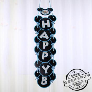 Mickey birthday happy birthday banner Korean edition children's birthday party decorating room hang