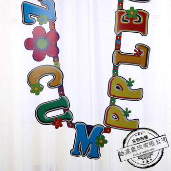 Happy birthday cross banners birthday party party props for party props