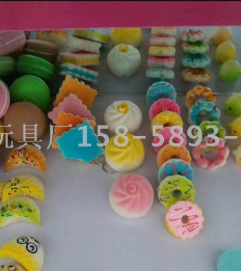 Simulation of the custom model of pu-open model handicraft squishy slow rebound and play bread