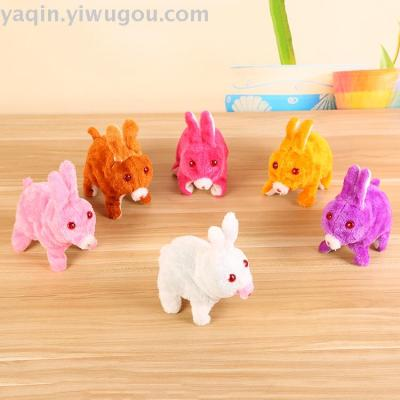 Electric toy electric rabbit mixed color plastic rabbit toy