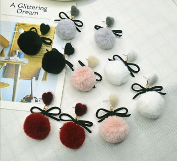 The new style of fashion and love ear nail-nail-nail-cute, cute, cute and fashionable bow earrings