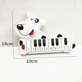 Children's new toy wholesale bag of children's plastic spotted dog 10 keys electronic piano toys