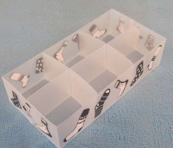 The manufacturer sells transparent plastic folding and folding pp box of underwear box