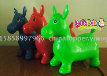 Jumping horse, inflatable PVC bouncy zebra, horse, deer