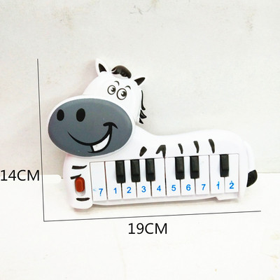Children's new toy bagged children's plastic cartoon horse 10 keys electronic piano toys