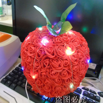 Christmas gift idea of Christmas Eve eternal flowers apple gift box to set a craft apple foreign trade goods source