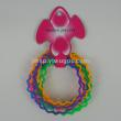 PVC wave bracelet with soft rubber ring