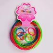 PVC2.8MM transparent with green onion rings + circular ring set