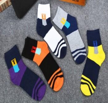 Socks men's autumn/winter t-box sports men's socks against odour and sweat socks