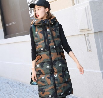 Ma jia female autumn and winter long style down cotton garment baggy hooded jacket with a thick coat