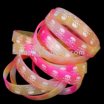 Silica gel night light printing hand ring of silica gel night light jelly bracelet