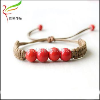 Hand woven beads hand chain simple bracelet