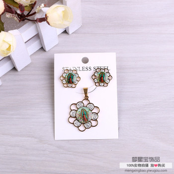 Earrings necklace pendant personality alloy accessories suit