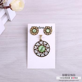 Fashion necklace pendant earrings