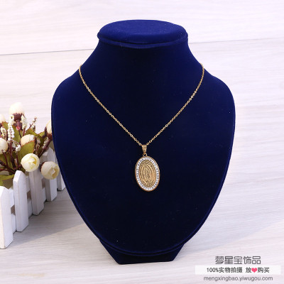Collarbone chain female pendant neck jewelry necklace necklace necklace earrings set