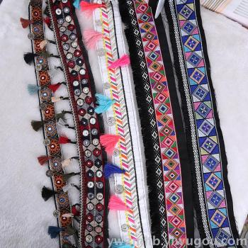 Factory direct sales embroidery national wind ribbon embroidery diy garment accessories manual tassel can be customized