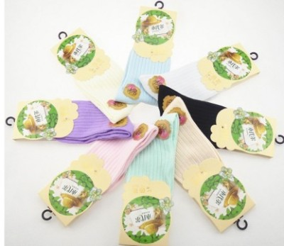 The women's stockings wholesale and individually wrapped candy colored cotton socks