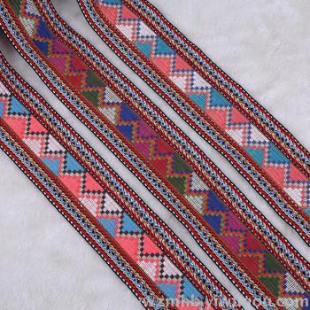 National wind retro decoration jacquard ribbon diy clothing accessories high quality polyester woven ribbon wrap