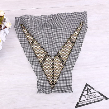 Heavy industry nail garment accessories lace DIY accessories black mesh collared colored bead collar