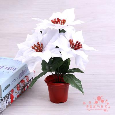 White Silk Flower Decoration Living Room Artificial Flower Design Miniature  Flower Simulation Plant.