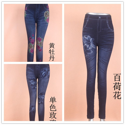 Women's wear hot style yiwu leggings factory straight for autumn/winter leggings imitation jeans