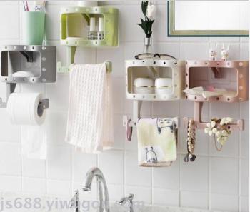 Tissue box toilet paper box unmarked toilet paper box plastic suction towel rack
