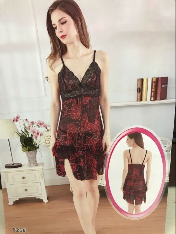 Sexy lace ladies sexy lingerie Europe and America temptation pajamas to look at the net yarn
