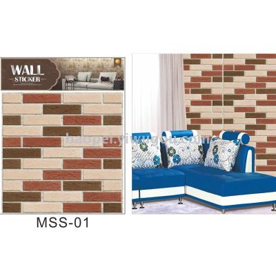 3D decorative wall plaster anti - collision plaster to imitate brick wall stickers