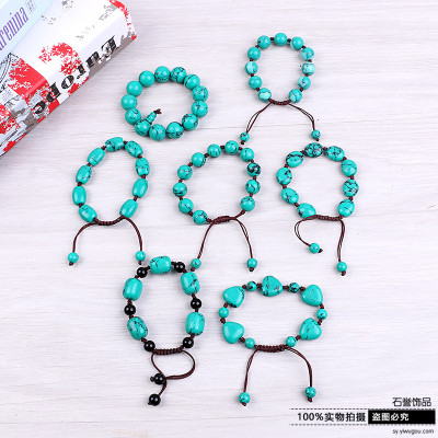 National wind loose stone bracelet handwoven atmospheric bracelets exquisite trinket strings