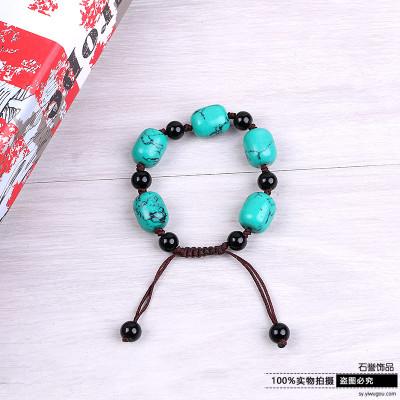 National wind loose stone bracelet handwoven atmospheric bracelets exquisite trinket strings