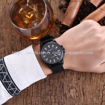 The new 3D male jeans canvas belt watch