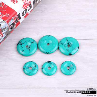 Turquoise pendant turquoise ring necklace sweater chain car hang material accessories accessories