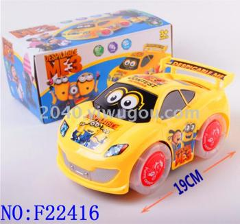 Electric universal light music car toy baby early education intelligent induction toy wholesale F22416