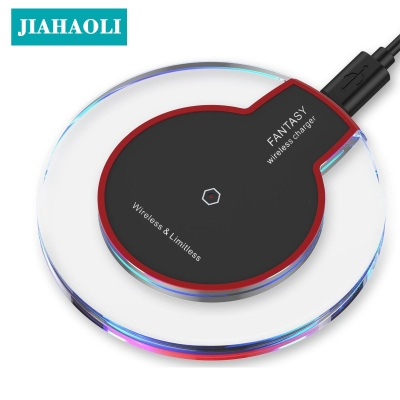 Mobile phone wireless charging crystal iphone 8x wireless charger Qi charge