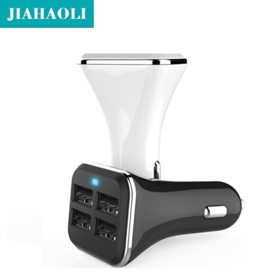 Direct multi-functional high-end 3.4A metal square 4USB port car charger