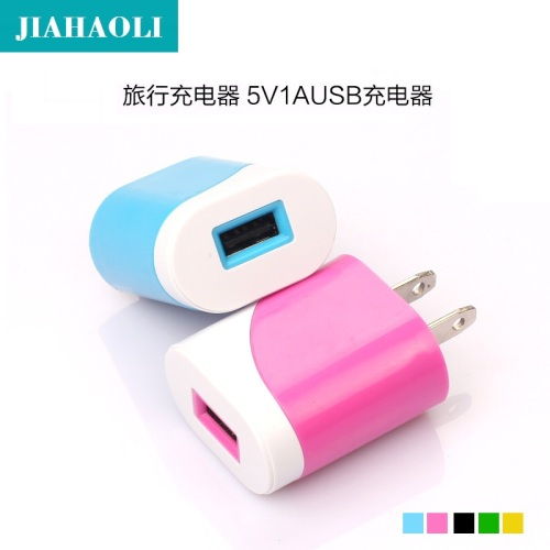 Double color egg roll phone charger travel charger USB charger general