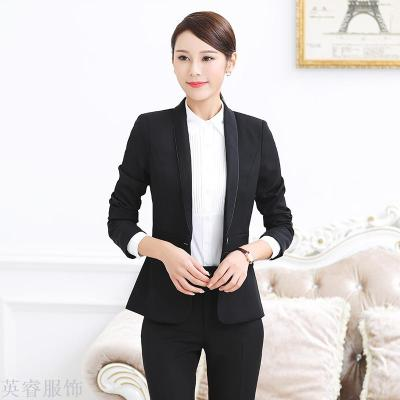 The new professional dress suit suits the women's dress suits the fashionable suit jacket the white collar work clothes