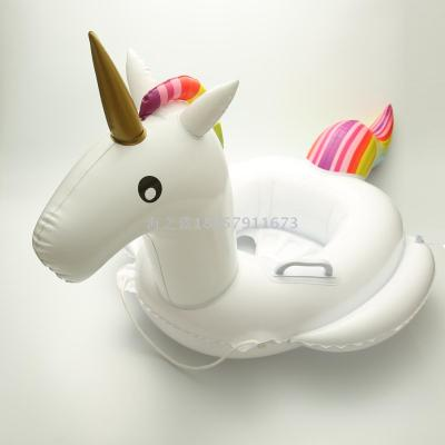 Inflatable toys children swim in the swimming circle baby boat baby boat unicorn
