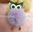 2017 new creative owl plush ball key chain hang piece