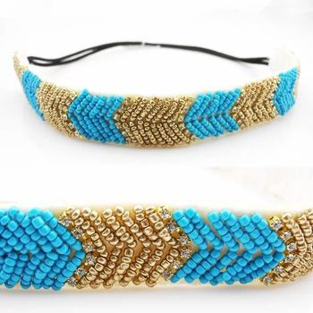 Factory direct sale of European and American fashion hand and diamond crystal headband hair band hair accessories