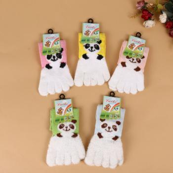 2017 new winter comfortable warm five finger socks cartoon stockings