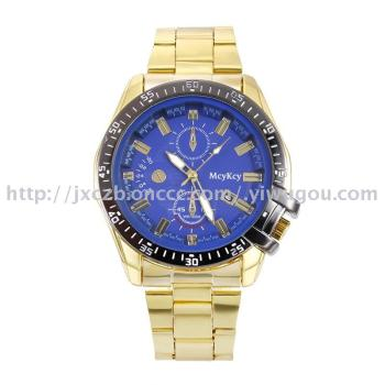 Business sports steel band fashion calendar men's watch wholesale