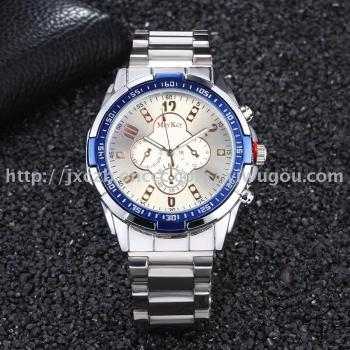 Hot style business man quartz atmospheric steel with wrist watch