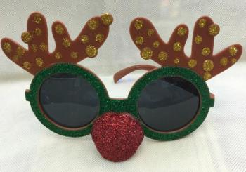 The factory direct supply AL1729 deer head with red nose glasses ball fun glasses