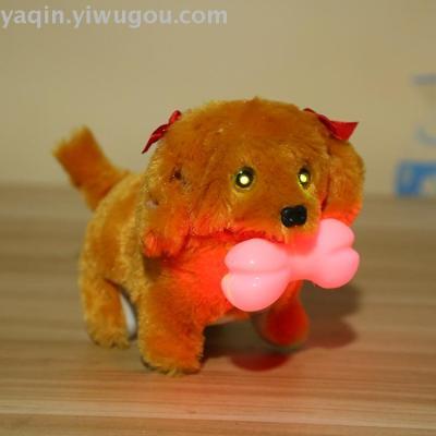 Electric toy dog new hair dog bite big bone bone and headlamp manufacturer direct sale