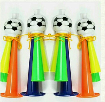 Toy wholesale football sports World Cup plastic football whistle horn props for large size