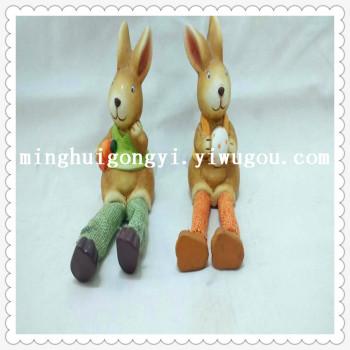 Factory direct sale of Easter party decoration supplies cloth leg lovers rabbit