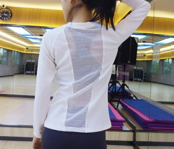 The new autumn new air speed dry sports T-shirt lady's long sleeve tight running tunic sweater