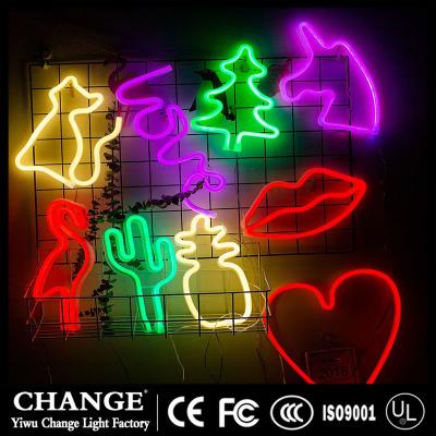 flamingo led night light neon lights cartoon unicorn head love lantern christmas wedding decoration new year